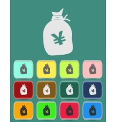 a big sack with Yen currency sign vector image