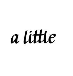 A little words written is cursive vector