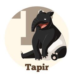 abc cartoon tapir vector image