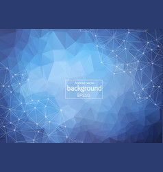 abstract blue dark geometric polygonal background vector image