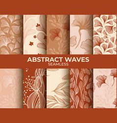 abstract neutral beige seamless patterns set vector image