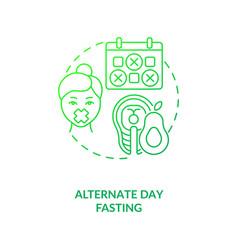 Alternate day fasting dark green concept icon vector
