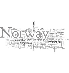An overview norway for travelers vector