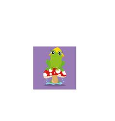 April showers frog 10 vector