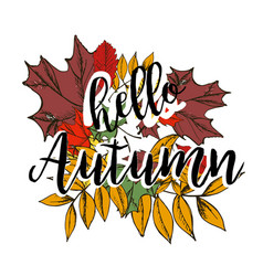 autumn background with text vector image
