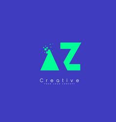 Az letter logo design with negative space concept vector
