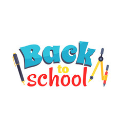 back to school poster isolated on white vector image