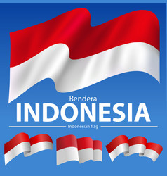 Bendera indonesia vector