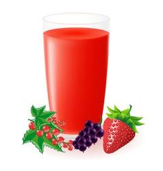 berry juice vector image