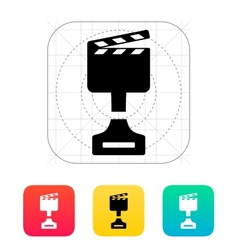 Best movie icon on white background vector