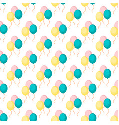 birthday party celebratory seamless pattern vector image