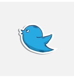 blue bird iconsticker vector image