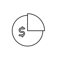 business icon graph budget vector image