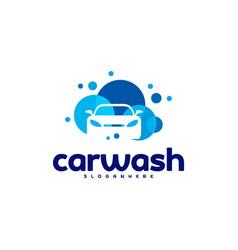 Car wash logo template designs vector