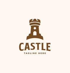 Castle logo concept castle tower good to use for vector
