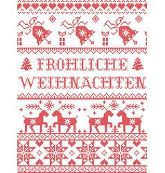 Christmas pattern frohliche weihnachten vector