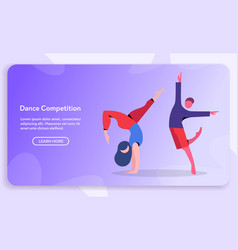 Contemporary and classical dancing set dancer vector