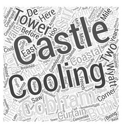 Cooling Castle Word Cloud Concept vector