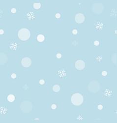 cute blue seamless snowflake and bokeh pattern vector image
