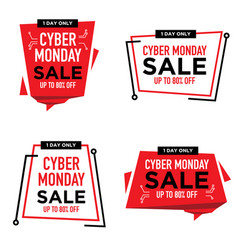cyber monday sale banner label poster badge vector image
