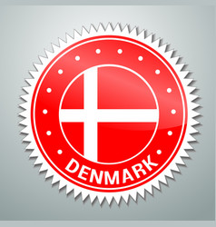 Danish flag label vector image
