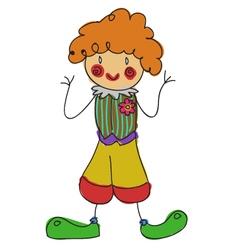 doodle clown vector image
