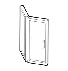 Door icon outline style vector image vector image