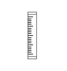 Dotted shape ruler school tool object design vector