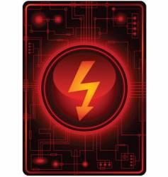 Energy sign microchip vector