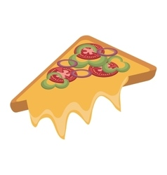 fast food pizza slice graphic vector image