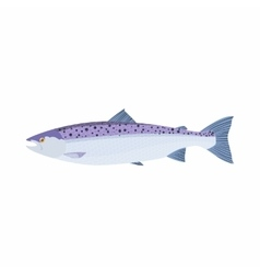 Fish trout icon cartoon style vector image