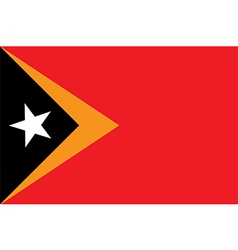 Flag of East Timor vector image