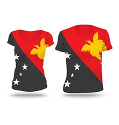 Flag shirt design of Papua New Guinea vector image