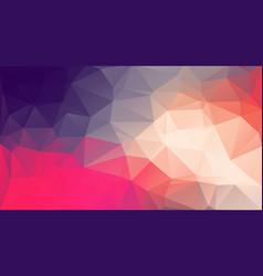 flat original retro color triangle background vector image