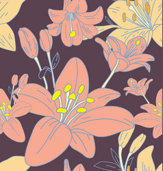 floral seamless pattern3 vector image