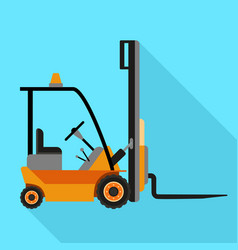 forklift machine icon flat style vector image