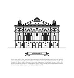 Grand opera building vector