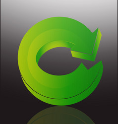 green arrow recycle icon vector image