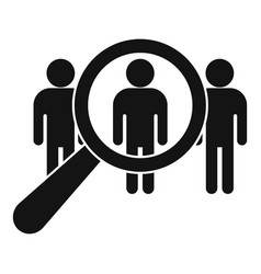 Group recruitment icon simple style vector