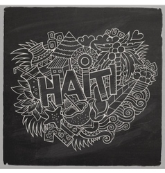 Haiti hand lettering and doodles elements and vector