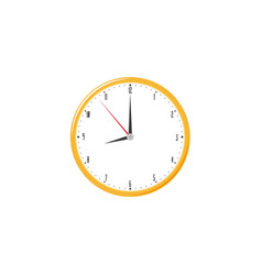 hanging round wall clock flat vector image