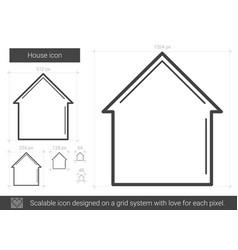 House line icon vector
