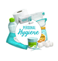 Hygiene and personal care products vector