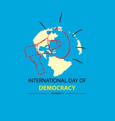 international day democracy september 15 vector image