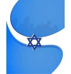 Israel independence day poster design vector image