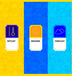 line weather package labels vector image