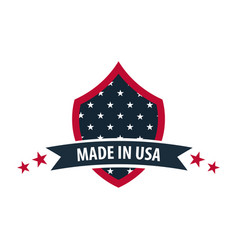made in usa label and badge on white background vector image