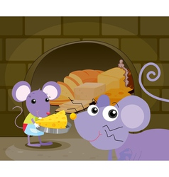 Mice eating vector