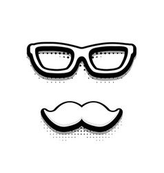 modern halftone fathers day icon on white vector image