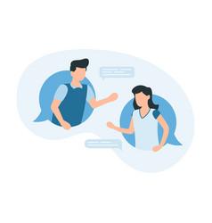 online conversation man and women communicate vector image